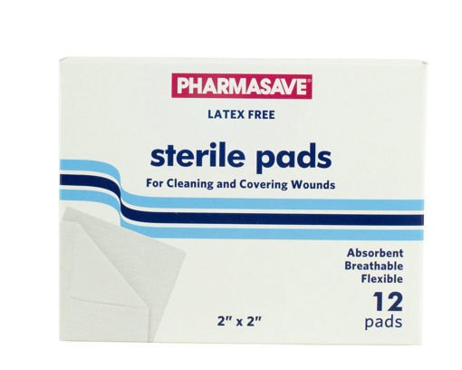 Picture of PHARMASAVE GAUZE PADS STERILE 2INX2IN 12S