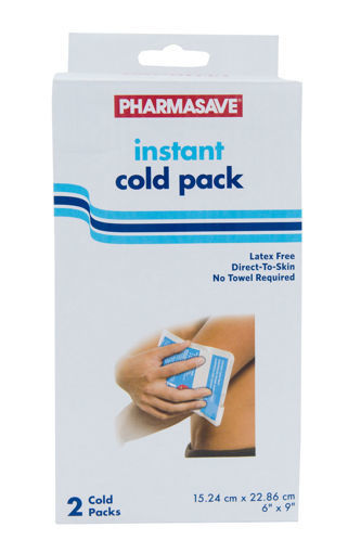 Picture of PHARMASAVE INSTANT COLD PACK 2S
