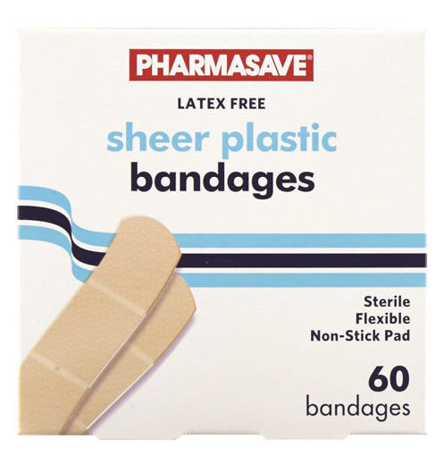 Picture of PHARMASAVE BANDAGE - SHEER - STRIPS 60S