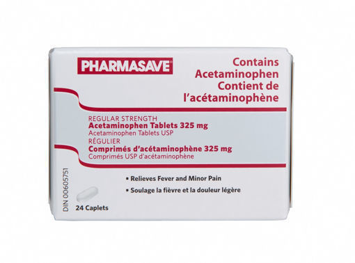 Picture of PHARMASAVE ACETAMINOPHEN CAPLET 325MG 24S
