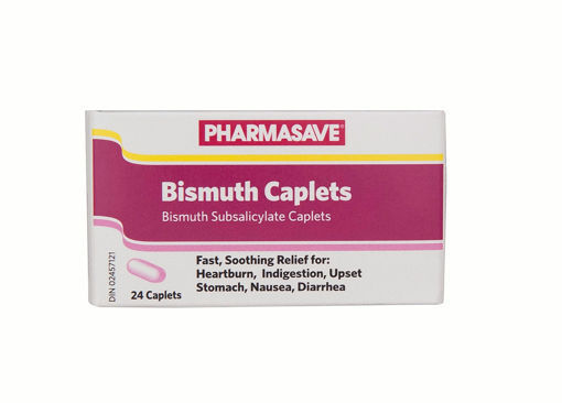 Picture of PHARMASAVE BISMUTH CAPLET 24S