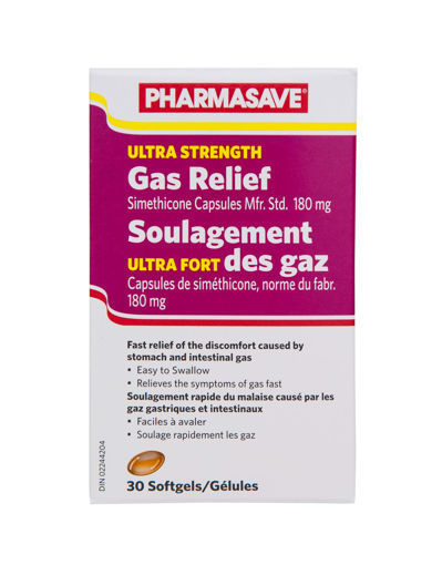 Picture of PHARMASAVE GAS RELIEF - ULTRA STRENGTH SOFTGELS 30S