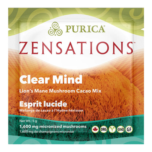 Picture of PURICA ZENSATIONS LIONS MANE MUSHROOM CACAO MIX - CLEAR MIND - SINGLE DOSE