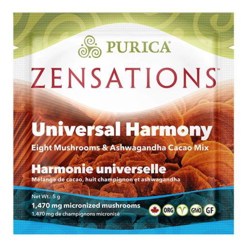 Picture of PURICA ZENSATIONS EIGHT MUSHROOMS & ASHWAGANDHA MUSHROOM CACAO MIX - UNIVERSAL HARMONY - SINGLE DOSE