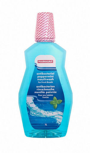Picture of PHARMASAVE ANTIBACTERIAL MOUTHWASH - PEPPERMINT 1LT