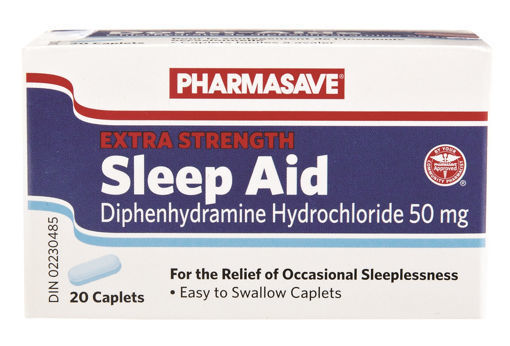 Picture of PHARMASAVE SLEEP AID - EXTRA STRENGTH CAPLET 50MG 20S