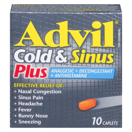 Picture of ADVIL COLD & SINUS PLUS CAPLET 10S