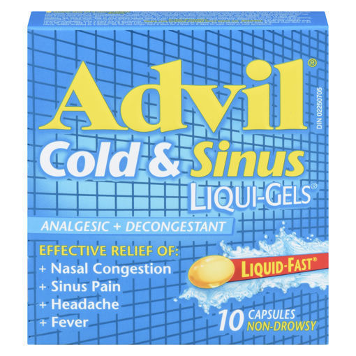 Picture of ADVIL COLD & SINUS CAPSULES 200MG 10S