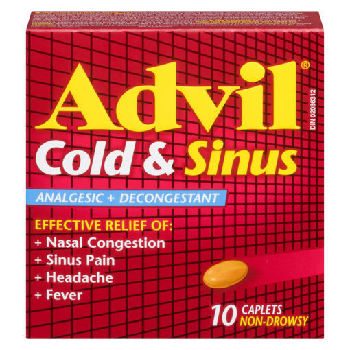 Picture of ADVIL COLD & SINUS CAPLETS 200MG 10S