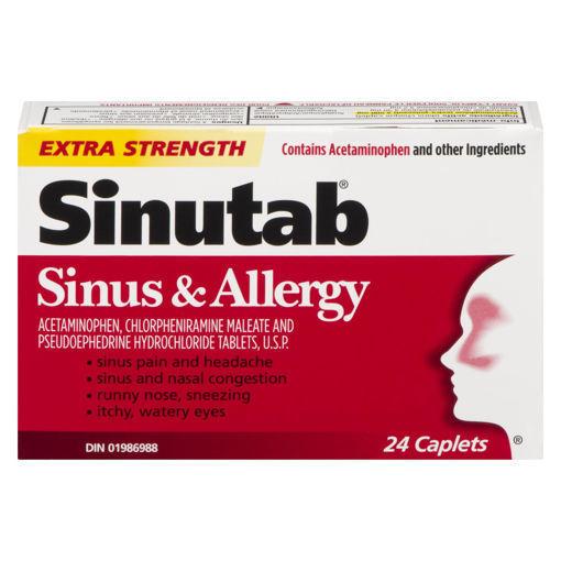 Picture of SINUTAB SINUS & ALLERGY EXTRA STRENGTH CAPLETS 24S