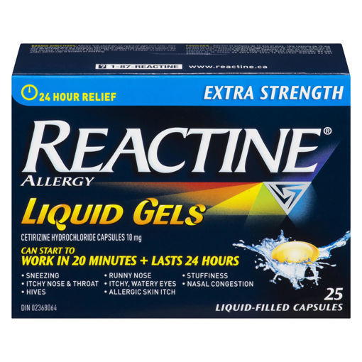 Picture of REACTINE LIQUID GELS - EXTRA STRENGTH 25S