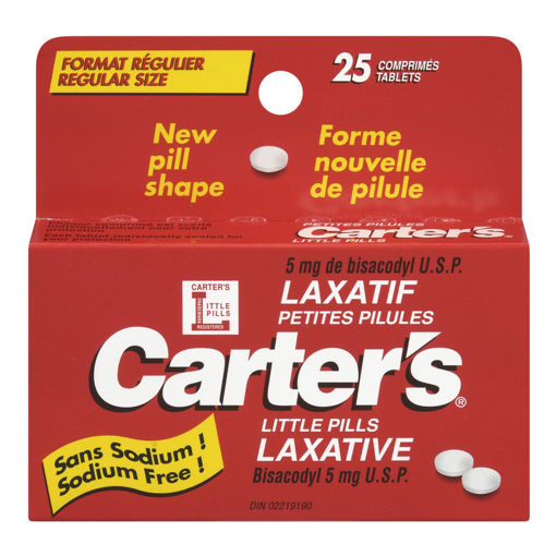 Picture of CARTERS LITTLE PILLS LAXATIVE - REGULAR SIZE TABLETS 25S