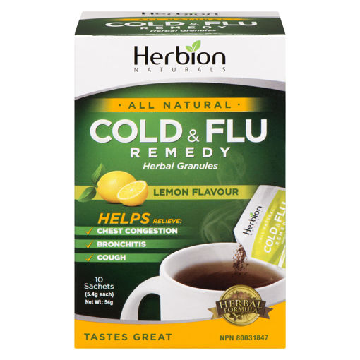 Picture of HERBION COLD AND FLU REMEDY - LEMON SACHETS 10S