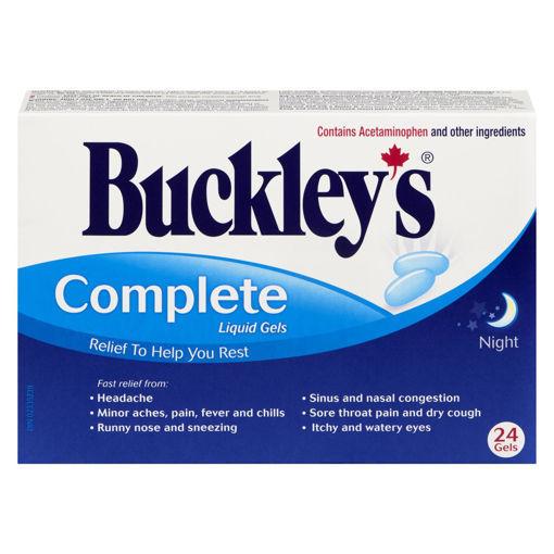 Picture of BUCKLEYS COMPLETE LIQUID GELS - NIGHTIME 24S