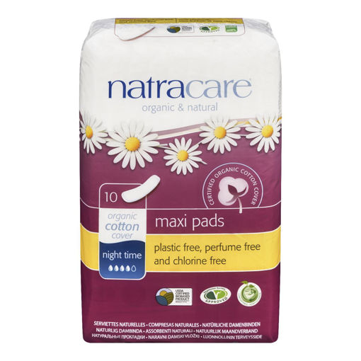 Picture of NATRACARE PADS - NIGHT TIME 10S