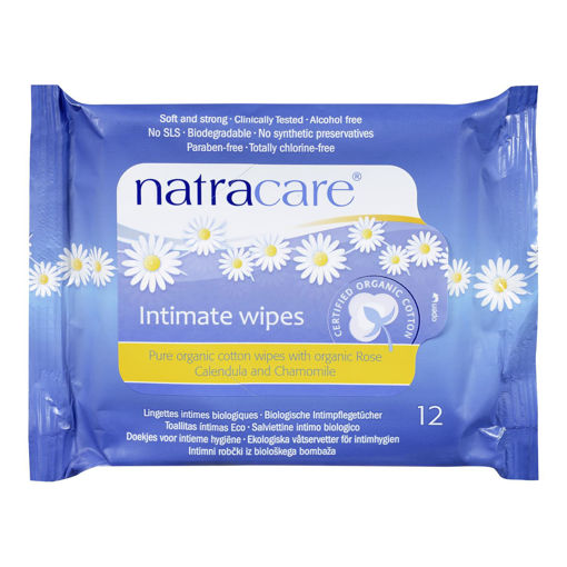 Picture of NATRACARE INTIMATE - WIPES 12S