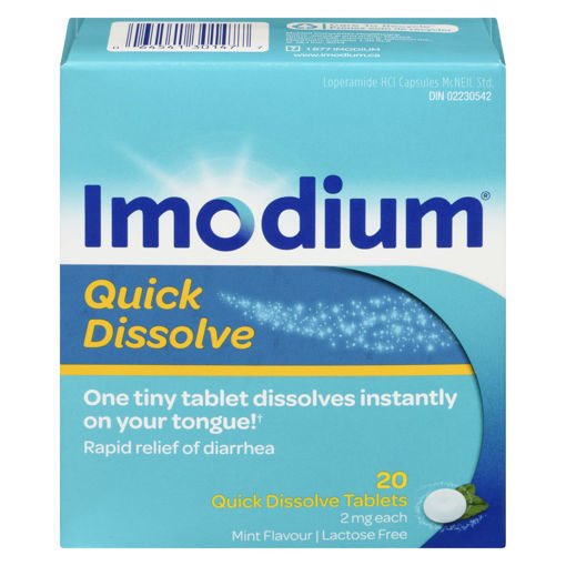 Picture of IMODIUM QUICK DISSOLVE TABLET 2MG 20S