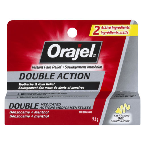 Picture of ORAJEL ADULT TOOTHACHE DOUBLE ACTION 9.5GR