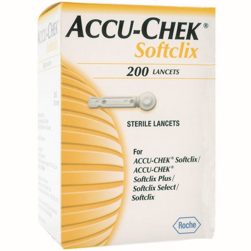 Picture of ACCU CHEK SOFTCLIX LANCETS 200S