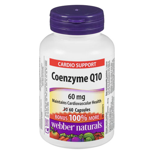Picture of WEBBER NATURALS COQ10 60MG 30+30S
