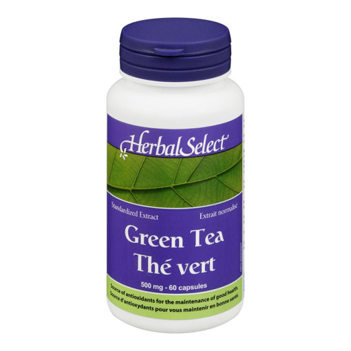 Picture of HERBAL SELECT GREEN TEA EXTRACT 500MG CAPSULES 60S