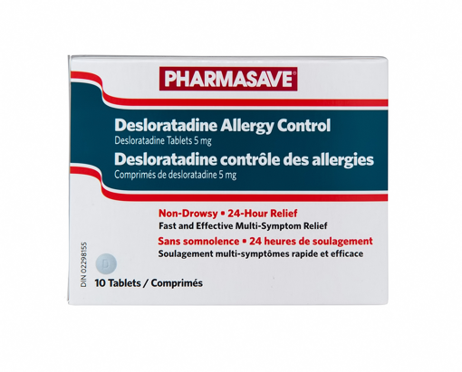 Picture of PHARMASAVE DESLORATADINE ALLERGY CONTROL TABLETS 5MG 10S