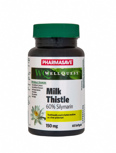 Picture of PHARMASAVE WELLQUEST MILK THISTLE CAPSULE 150MG 60S