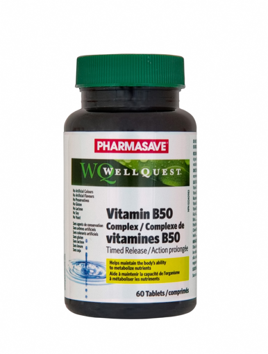 Picture of PHARMASAVE WELLQUEST VITAMIN B50 COMPLEX TIMED RELEASE 60S