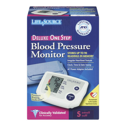 Picture of LIFESOURCE BLOOD PRESSURE MONITOR - DELUXE ONE STEP - UA767 - SM