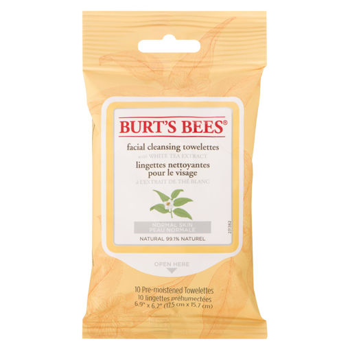 Picture of BURTS BEES FACE TOWELETTES TRAVEL SIZE - WHITE TEA 10S