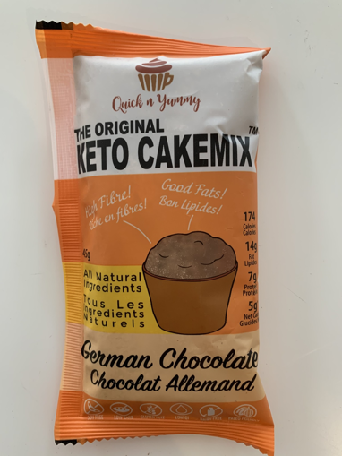 Picture of QUICK AND YUMMY KETO MUG CAKE - GERMAN CHOCOLATE 45GR