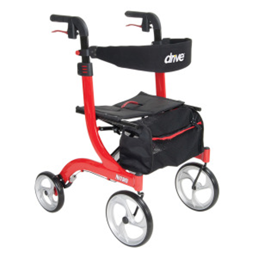Picture of DRIVE MEDICAL NITRO ROLLATOR - RED FRAME