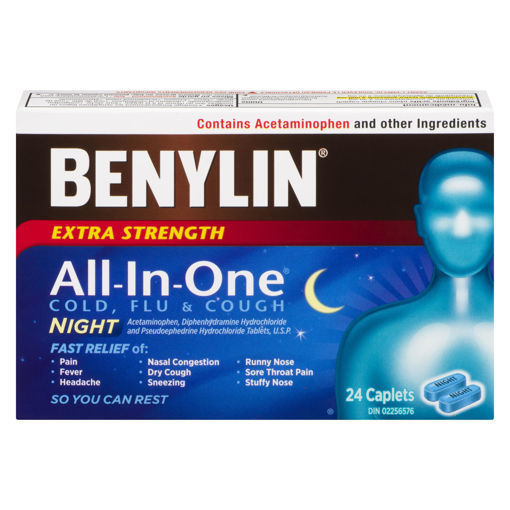 Picture of BENYLIN ALL IN ONE - EXTRA STRENGTH - NIGHT 24S