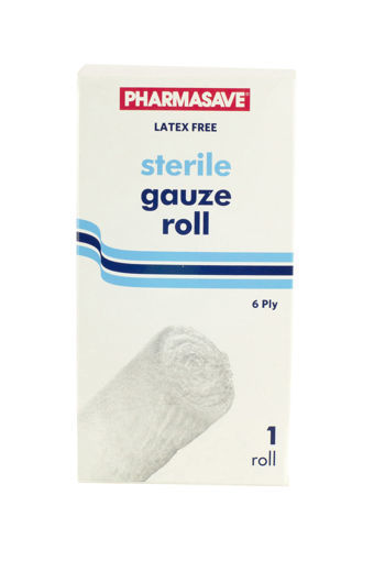 Picture of PHARMASAVE STERILE GAUZE ROLL - 6 PLY 4.5X4.1YD