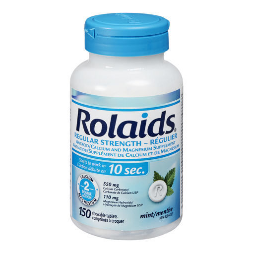 Picture of ROLAIDS TABLETS - REGULAR STRENGTH - MINT 150S