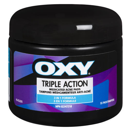 Picture of OXY TRIPLE ACTION PAD 0.5% 55S